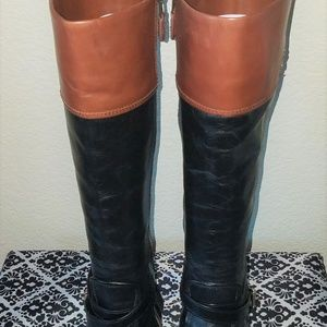 Coach Leather Boots (Size: 8B)